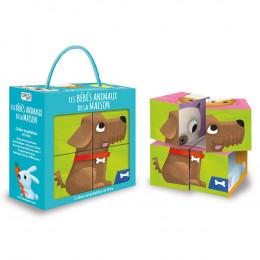 Cubes empilables Les bébés animaux de la maison - à partir de 2 ans