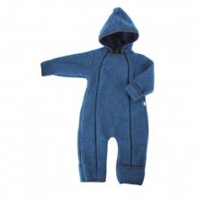 Combinaison à capuche en polaire de  laine - Bleu jeans