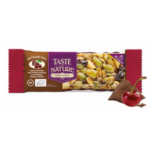 Barre aux noix et fruits secs - Chocolat noir Cerise - 1 x 40 gr
