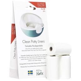 Clean Potty liners - sacs biodégradables pour petit pot révolutionnaire