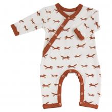 Pyjama écru longues manches en coton BIO - renards