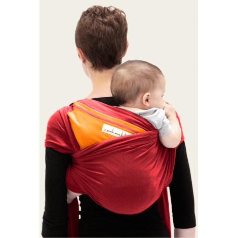Echarpe porte-bébé: Rouge érable / Safran