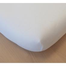 Drap Housse en Coton Bio - Pour lit double - blanc