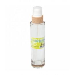 Flacon pompe pour crème en verre avec couvercle en bois de hêtre