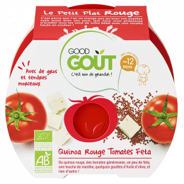 Quinoa rouge , tomates et feta - 220 g - à partir de 12 mois