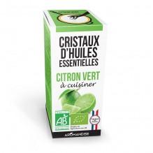 Cristaux d'huiles essentielles à cuisiner - citron vert - 10 g