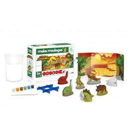 Figurines  à mouler et à décorer - Le monde des dinosaures - à partir de 5 ans