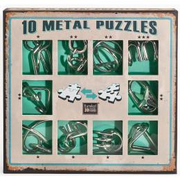 Set de 10 casse-têtes métal - à partir de 7 ans - version verte