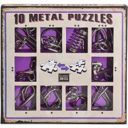 Set de 10 casse-têtes métal - à partir de 7 ans - version mauve