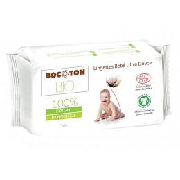 Lingettes bébé ultra douces en coton BIO - 54 unités
