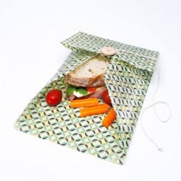 Pochette cirée pour sandwichs - grande - motifs aléatoires