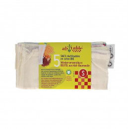 5 Sacs à légumineuses et céréales en coton BIO Taille S