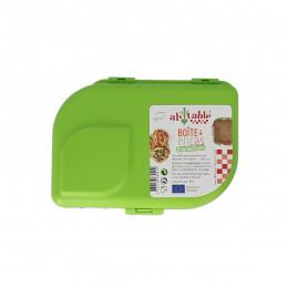 Boîte à tartines et encas avec séparateur en bioplastique