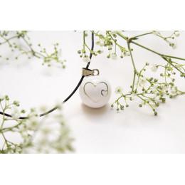 Bola blanc double cœurs