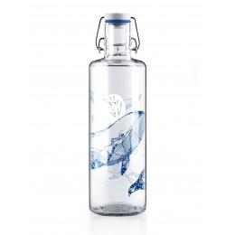 Bouteille en verre 1 litre - Baleine