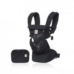 Porte-bébé 360 4 positions - Cool air mesh - Onyx black