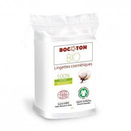 60 lingettes cosmétiques en coton Bio