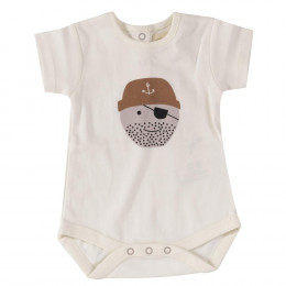 Body manches courtes en coton BIO - Pirate