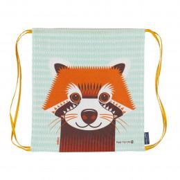 Sac d'activités enfant en coton BIO - Panda roux