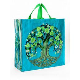 Grand cabas shopper en matériaux recyclés - Tree of life