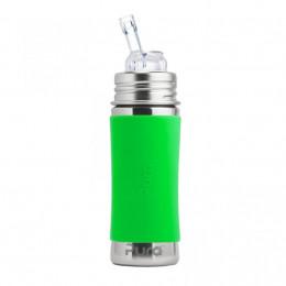 Biberon évolutif inox 325 ml Paille  - Vert