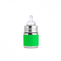 Biberon évolutif en inox - 150 ml - Tétine - Vert