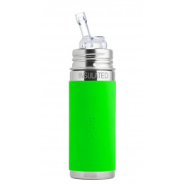 Biberon isotherme évolutif inox 260 ml - Paille - Vert