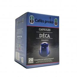 Café BIO -  capsule décaféiné - 20 capsules