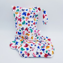 Kit de départ - serviettes hygiéniques lavables - Papillons