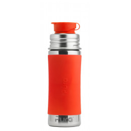 Manchon long en silicone pour biberon - Orange