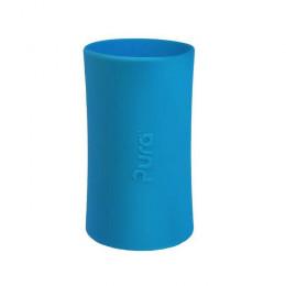 Manchon long en silicone pour biberon - Turquoise