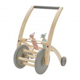 Chariot de marche bois piverts - à partir de 10 mois