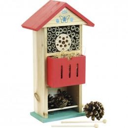 Hôtel à insectes en bois - à partir de 3 ans