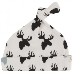 Bonnet en coton BIO - Elan Black and white