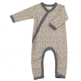Pyjama - Combi en coton BIO avec pieds - Leaf pumice