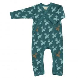 Pyjama - Combi en coton BIO avec pieds - Elan Teal