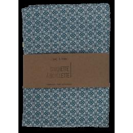 Sac à pain - 35 x 50 cm - Fleurs bleues