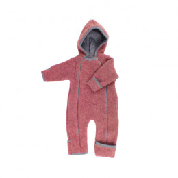 Combinaison intégrale en polaire de laine pour bébé - Vintage Red