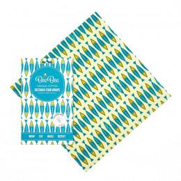 Emballage alimentaire à la cire d'abeille - Large - Sardines