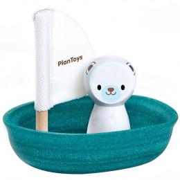 Voilier ours polaire pour le bain - à partir de 1 an