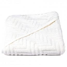 Cape de bain Zigzag - Blanc