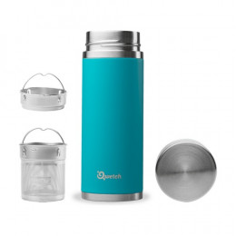 Théière nomade isotherme en inox 300 ml - Turquoise