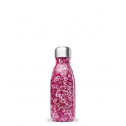 Bouteille isotherme en inox - Fleurs roses - 260 ml