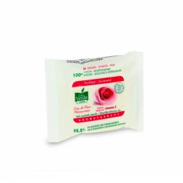 Disques purifiants biodégradables en coton - à l'eau de rose