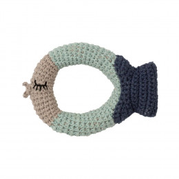 Hochet tricot - poisson - dès la naissance