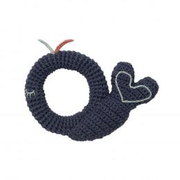 Hochet tricot - baleine - dès la naissance