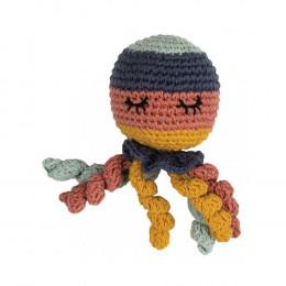 Hochet tricot - poulpe - dès la naissance