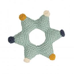 Hochet tricot - étoile - dès la naissance