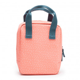 Sac Repas Isotherme - Dashes coral