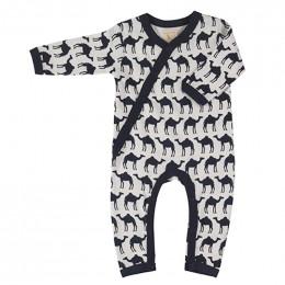Pyjama coton bio - Chameau marin